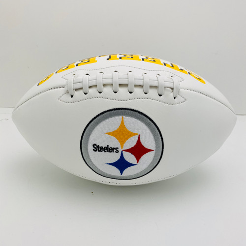 Pittsburgh Steelers White Panel Football