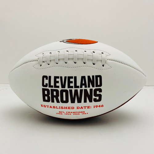 Cleveland Browns White Panel Football