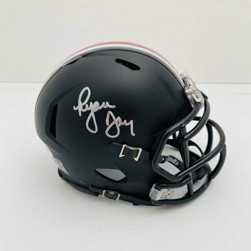 Ryan Day Ohio State Buckeyes Autographed Black Mini Helmet - PSA Authentic
