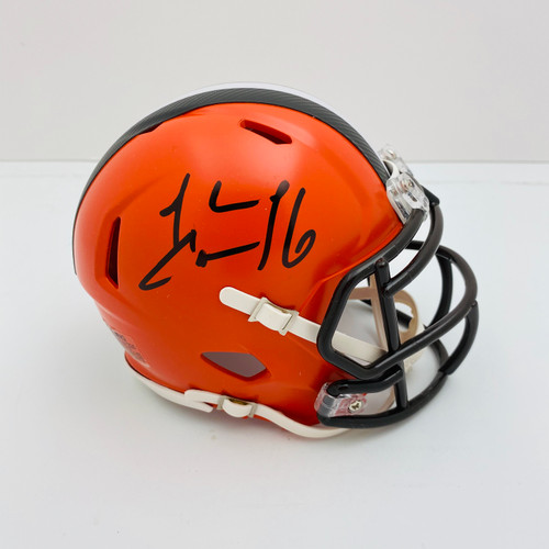 Josh Cribbs Cleveland Browns Autographed Mini Helmet - Certified Authentic