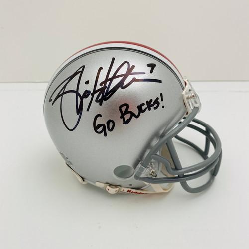 Brian Hartline 'Go Bucks' Ohio State Buckeyes Autographed Mini Helmet - Certified Authentic