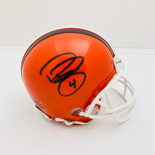 Phil Dawson Cleveland Browns Autographed Mini Helmet - Certified Authentic