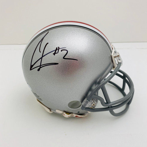 Cris Carter Ohio State Buckeyes Autographed Mini Helmet - PSA Authentic