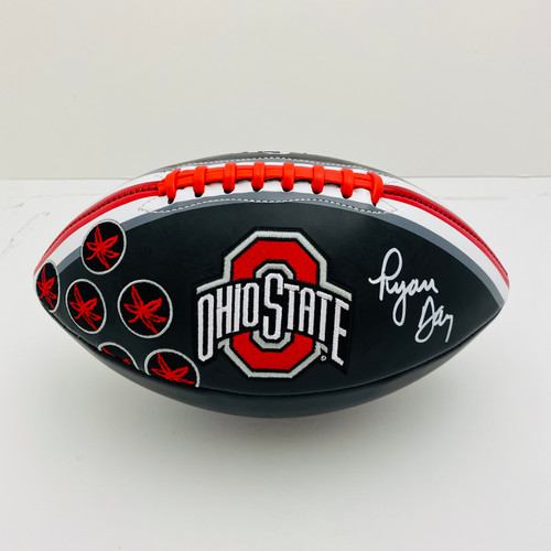 Ryan Day Ohio State Buckeyes Autographed Black Football - PSA Authentic