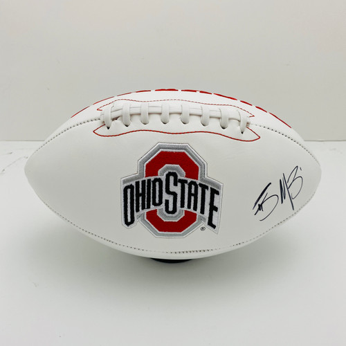 Braxton Miller Ohio State Buckeyes Autographed White Panel Football - Certified Authentic