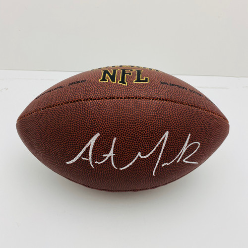 Austin Mack Ohio State Buckeyes Autographed NFL Supergrip Football - Certified Authentic