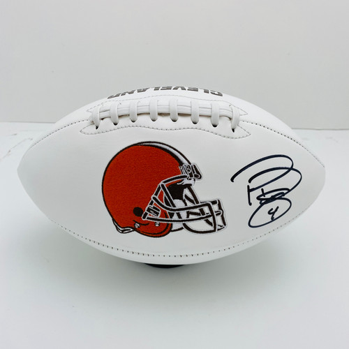 Phil Dawson Cleveland Browns Autographed White Panel Football - PSA Authentic