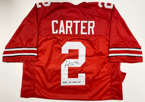 Cris Carter '1986 All-American' Ohio State Buckeyes Autographed Jersey - PSA Authentic