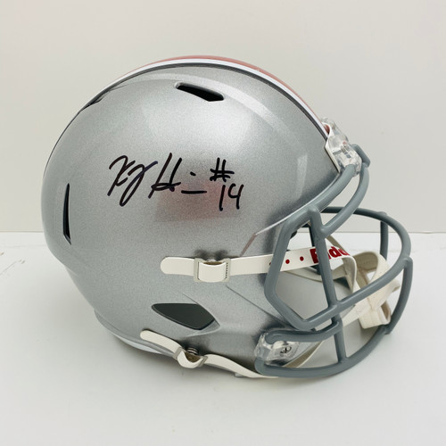 KJ Hill Ohio State Buckeyes Autographed Replica Helmet - PSA Authentic