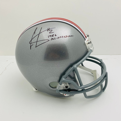 Cris Carter Ohio State Buckeyes '1986 All-American' Autographed Replica Helmet - PSA Authentic