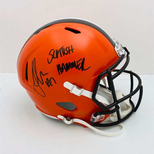 Jamie Gillan Cleveland Browns 'Scottish Hammer' Autographed Replica Helmet - Certified Authentic