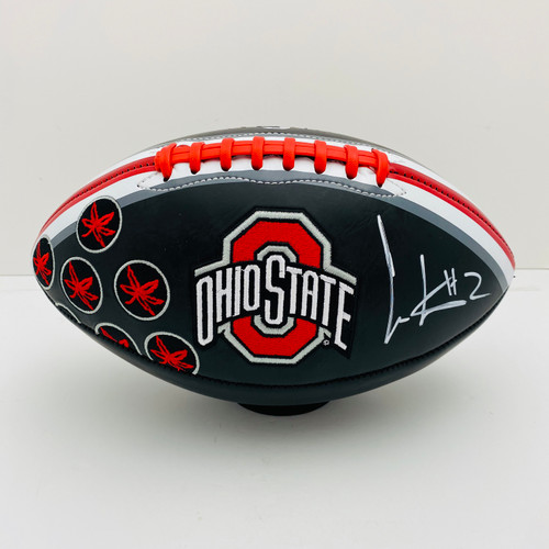 Cris Carter Ohio State Buckeyes Autographed Black Football - PSA Authentic