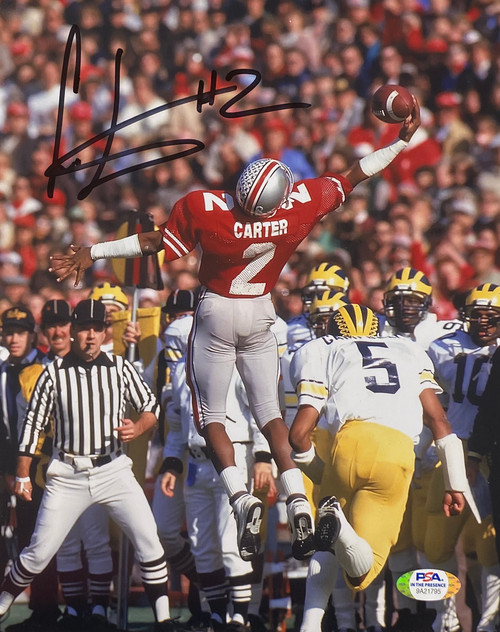 Cris Carter Ohio State Buckeyes 8-1 8x10 Autographed Photo - PSA Authentic
