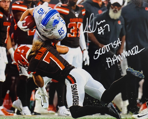 Jamie Gillan 'Scottish Hammer' Cleveland Browns 8-2 8x10 Autographed Photo - Certified Authentic