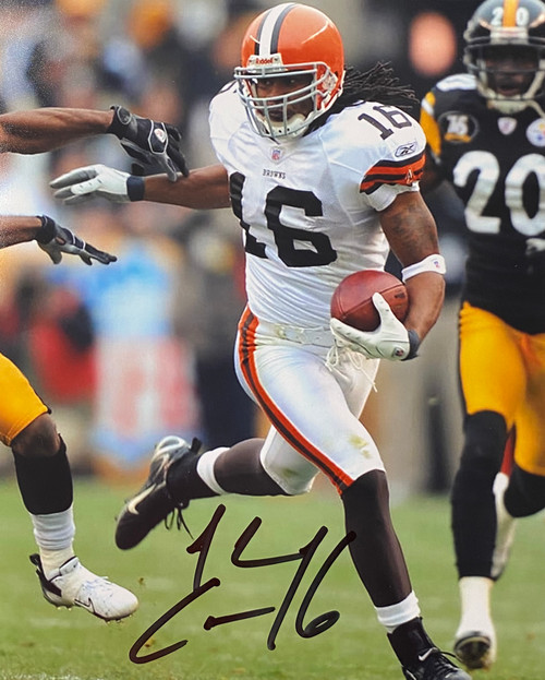 Josh Cribbs Cleveland Browns 11-1 11x14 Autographed Photo - Certified Authentic