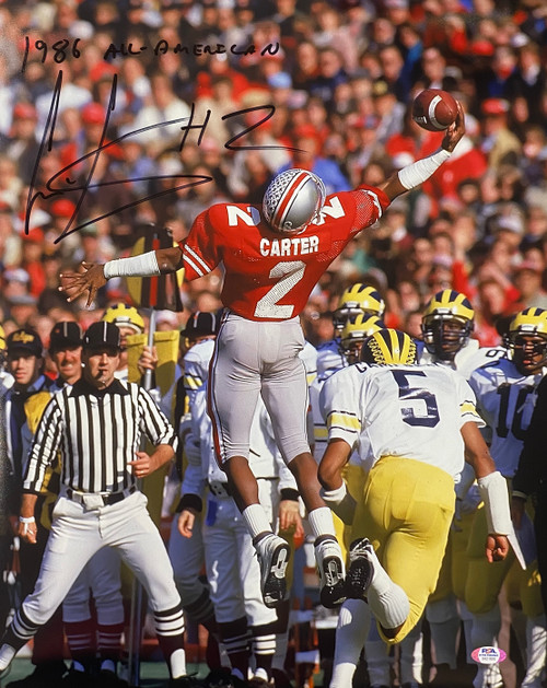 Cris Carter Ohio State Buckeyes '1986 All-American' 16-1 16x20 Autographed Photo - PSA Authentic