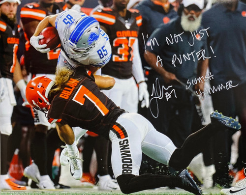 Jamie Gillan 'Scottish Hammer' Cleveland Browns 16-2 16x20 Autographed Photo - Certified Authentic