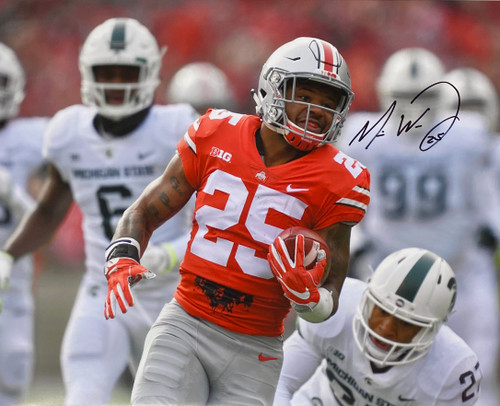 Mike Weber Ohio State Buckeyes 16-1 16x20 Autographed Photo - Certified Authentic