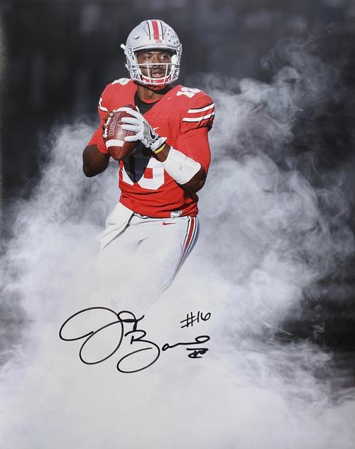 JT Barrett Ohio State Buckeyes 16-19 16x20 Autographed Photo - Barrett Hologram