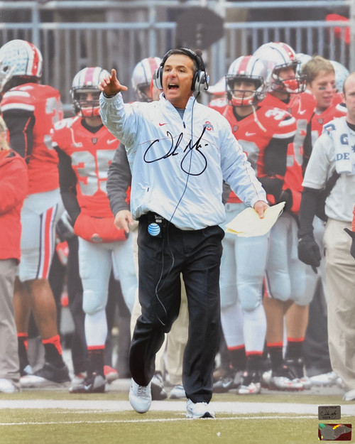 Urban Meyer Ohio State Buckeyes 16-10 16x20 Autographed Photo - Meyer Authentic