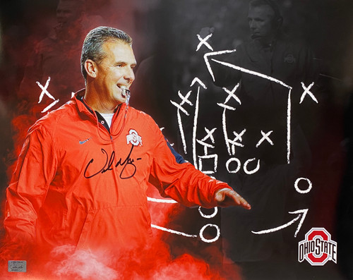 Urban Meyer Ohio State Buckeyes 16-11 16x20 Autographed Photo - Meyer Authentic