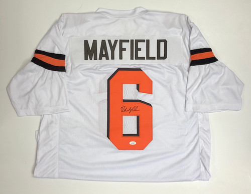 Baker Mayfield Cleveland Browns Autographed White Jersey - JSA Authentic