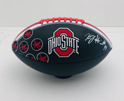 KJ Hill Ohio State Buckeyes Autographed Black Football - PSA Authentic