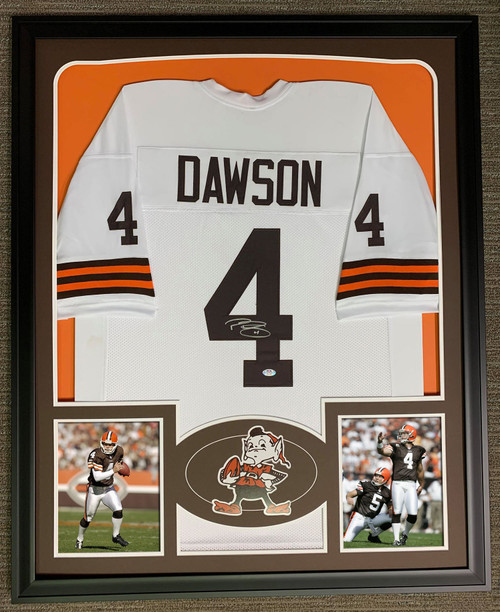 Phil Dawson Autographed & Framed Jersey Cleveland Browns