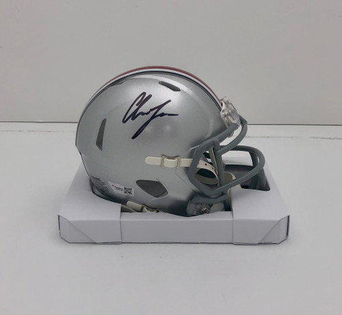 Chase Young Ohio State Buckeyes Autographed Speed Mini Helmet - Fanatics Authentic