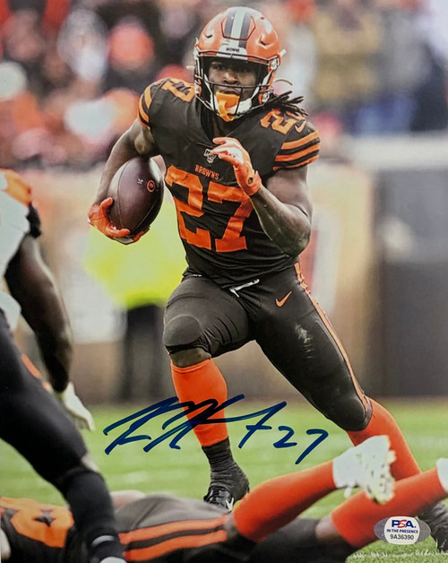 Kareem Hunt Cleveland Browns 8-1 8x10 Autographed Photo - PSA Authentic