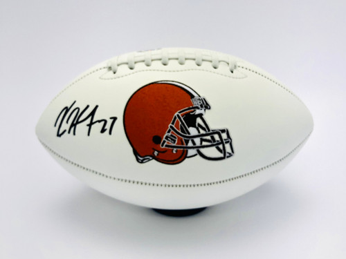 Kareem Hunt Cleveland Browns Autographed White Panel Football - PSA Authentic