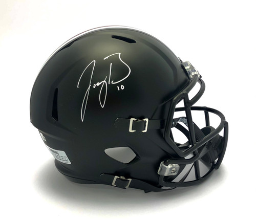 Joe Burrow Ohio State Buckeyes Autographed Black Replica helmet - Certified Authentic