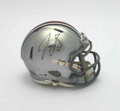 Joe Burrow Ohio State Buckeyes Autographed Speed Mini Helmet - Certified Authentic