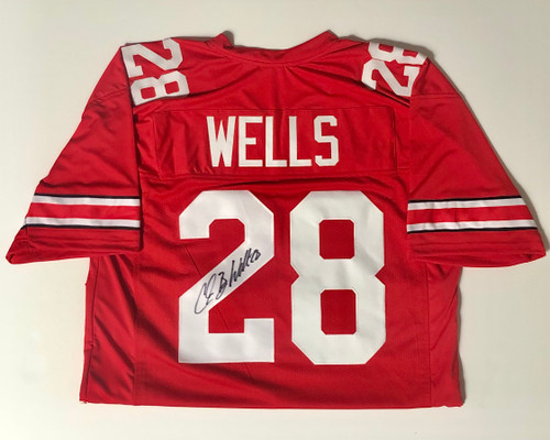 Chris 'Beanie' Wells Ohio State Buckeyes Autographed Jersey - Certified Authentic