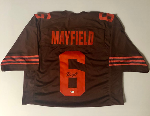 Baker Mayfield Cleveland Browns Autographed Color Rush Jersey - Beckett Authentic