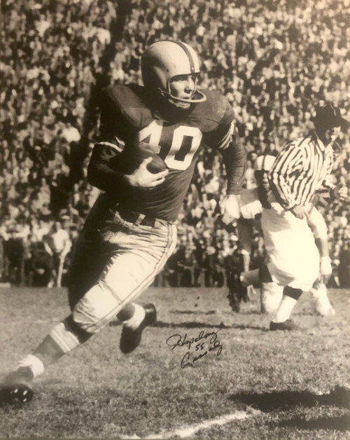 Howard 'Hopalong' Cassady Ohio State Buckeyes 30x40 Autographed Canvas - Certified Authentic