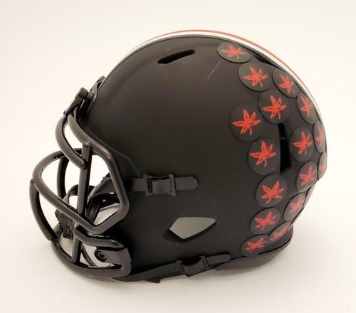JK Dobbins Ohio State Buckeyes Autographed Black Mini Helmet - JSA Authentic