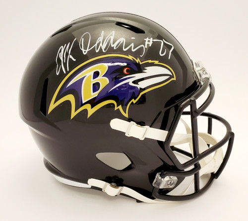 JK Dobbins Baltimore Ravens Autographed Replica Helmet - JSA Authentic