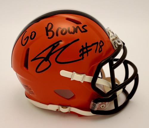 Jack Conklin Cleveland Browns Autographed Mini Helmet - Certified Authentic