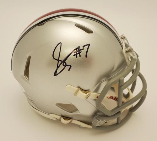 Sevyn Banks Autographed Ohio State Buckeyes Silver Riddell Speed Mini Helmet - JSA Authentic