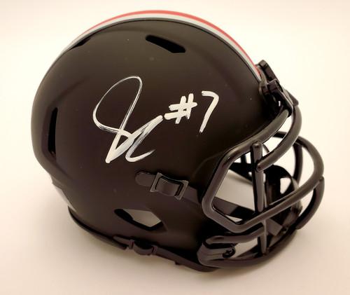 Sevyn Banks Autographed Ohio State Buckeyes Black Speed Mini Helmet - JSA Authentic