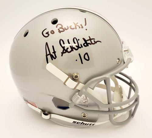 Art Schlichter Ohio State Buckeyes Autographed Schutt Replica Helmet - Certified Authentic