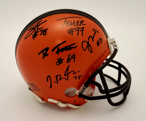 Cleveland Browns 'Guard Dawgs' Autographed Mini Helmet - Certified Authentic