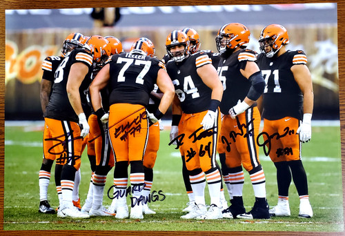 Cleveland Browns 'Guard Dawgs' 11-1 11x17 Autographed Photo - Certified Authentic
