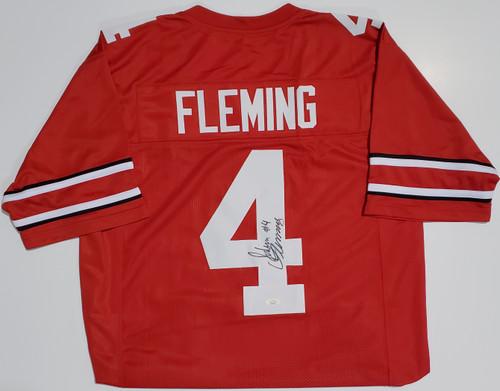 Julian Fleming Ohio State Buckeyes Autographed Jersey - JSA Authentic