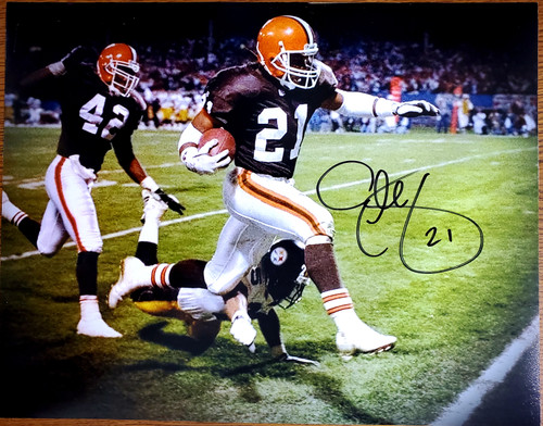 Eric Metcalf Cleveland Browns 11-1 11x14 Autographed Photo - Certified Authentic