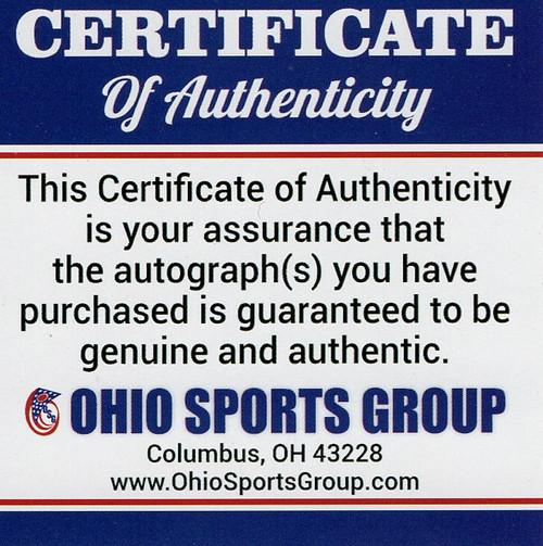 Three Heisman (Archie Griffin, Eddie George, Troy Smith) Ohio State Buckeyes Autographed Schutt Replica Helmet - Certified Authentic