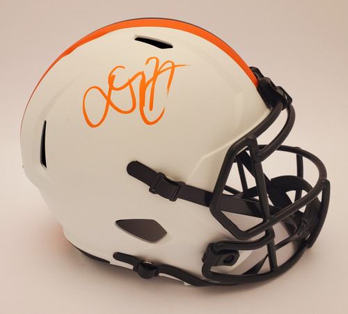Donovan Peoples-Jones Cleveland Browns Autographed Lunar Replica Helmet - Ceritifed Authentic