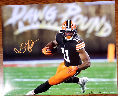Donovan Peoples-Jones Cleveland Browns 16-1 16x20 Autographed Photo - Certified Authentic