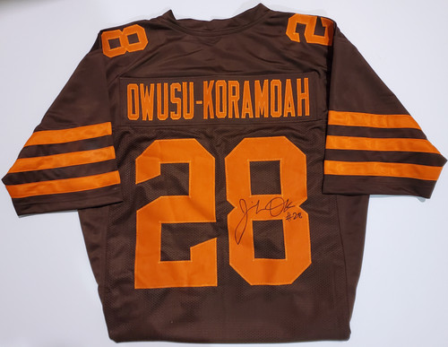 Jeremiah Owusu-Koramoah Cleveland Browns Autographed Color Rush Jersey - Beckett Authentic